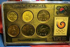 THE SOUVENIR OF KOREA TOUR COINS SET  Beautiful Korea  COINS SET OF KOREA (๑╹ᆺ╹)