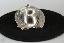 ENCRIER EN METAL ARGENTE,  fer à cheval, casquette, jockey, tiercé, années 50