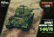 Meng World War Toons Soviet Medium Tank T-34/76 Q Edition Plastic Kit #WWT006