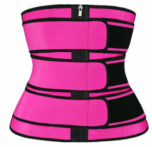 Women's Body Shaper Slimming Waist Trainer Sweat Belt Cincher Fat Burner Corset