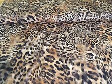 Jersey Stoff Leopard Feinjersey Viskosejersey Leopardmuster