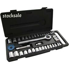 "40pc Socket Set en case1/4 ""de 3/8"" Drive Socket Set Ratchet Mango Métrica En Caja"