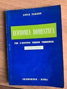 ECONOMIA DOMESTICA Pagano 1962 CREMONESE
