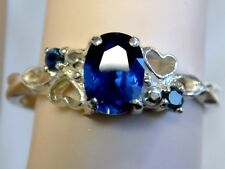 BLUE SAPPHIRE RING SIZE 6.5 925 STERLING SILVER USA MADE
