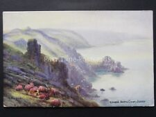 Channel Isles JERSEY Crabbe North Coast Art C.G. Blampied Old Postcard by Salmon
