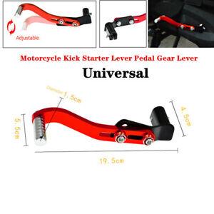 Universal Adjustable Motorcycle Kick Starter Lever Pedal Gear Lever Aluminum Kit