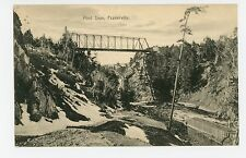Pont Dion FRASERVILLE Quebec CPA Antique Railroad Bridge—Mercier Pub 1912
