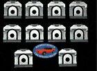 64-86 GM Front Windshield Rear Window Reveal Trim Moulding Molding Clips 10pc II