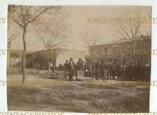 CHINESE PHOTO GERMAN SOLDIERS IN SQUARE TIENTSIN / TIANJIN CHINA VINTAGE C.1900