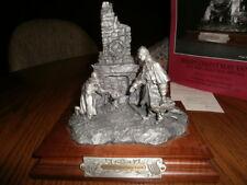 "Chilmark Pewter ""Merry Christmas Yank""  B.F.Barnum   Sculpture Signed #702 RARE"