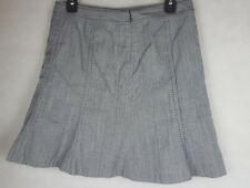White House Black Market Womens Skirt Gored Gray Cotton Blend Lined Size 4