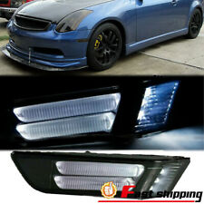 Fits 2003 2007 Infiniti G35 2dr Coupe Led Bumper Smoky Side Marker Lights Lamps