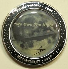 F-117 Stealth Nighthawk Fighter Retired 2008  Lockheed Air Force Challenge Coin