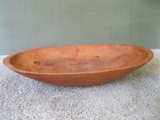 "Antique Trencher Dough Bowl Vtg Primitive Oval 21"" x 11"" x 4"" Country Maple Wood"