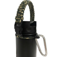 Paracord Handle Strap Cord Safety Ring & Carabiner for Hydro Flask Wide Mouth 20