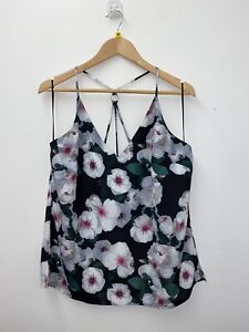 FWM Fenn Wright Manson Cami Camisole Flower Print Strappy Patterned Top Size 16