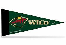 """Minnesota Wild Nhl Mini Pennant 9""""x4"""", New, Felt, Made in Usa"""
