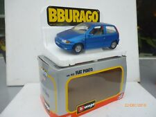 FIAT PUNTO BURAGO 1:24 IN NICE  BLUE  NM BOXED RARE SELTEN!