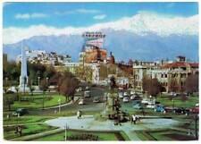 Postal Plaza Baquedano, Cordillera de los Andes. Santiago, Chile