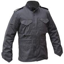 Abrigos y chaquetas de hombre parka negra de poliéster