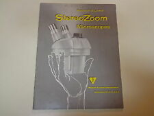 Bausch & Lomb Stereo Zoom Microscope Catalog 1960's Illustrated