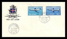 Iceland 1969 FDC, Air Mail. Boeing 727. Lot # 3.