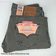 Mens Jeans Levi 501ct Grey Customised Tapered Original 32/34 Ripped Distressed