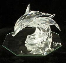 Vintage Swarovski  Dolphins Lead Me Collectors Society 1990 Crystal w Mirror