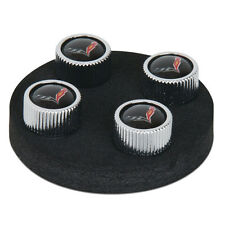 2014 - Current, C7, Corvette Valve Stem Caps, Black Set of 4