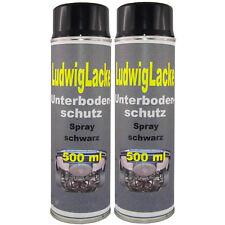 Unterbodenschutz 3 x 500ml  schwarz nicht überlackierbar mit Autolack &Versand