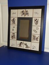 DisneyTiled Mirror 18x22 Frank Thomas Ollie Johnston Signed On Back Ex Cond.