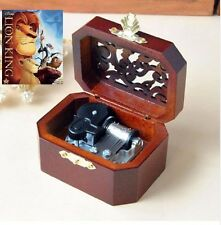 WOODEN OCTAGON CARVING MUSIC BOX : CAN YOU FEEL THE LOVE TONIGHT @ LION KING