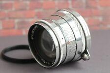 JUPITER-8 / 50mm Glossy Silver Lens Leica LTM M39 Sonnar copy +Ring M42