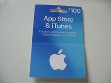 $100 Apple App Store & iTunes Gift Card - Physical USPS Delivery Free shipping