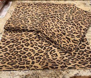 Pair 2 RALPH LAUREN HOME Vintage Aragon Leopard Pillowcases Standard cheetah