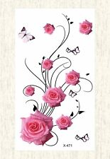 US SELLER, buy cheap wholesale rose flower temporary tattoo