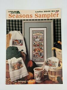 Vtg Leisure Arts Seasons Sampler Leaflet 2642 Cross Stitch Pattern Chart 1994