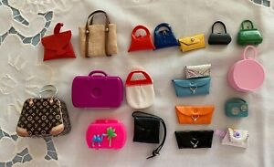 Vintage Barbie And Francie Large Lot Of Misc Purses Of Pak And Clone Items
