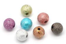 20 PERLE STARDUST 8mm Mixte Creation Bijoux, bracelet. Multicolore 8 mm