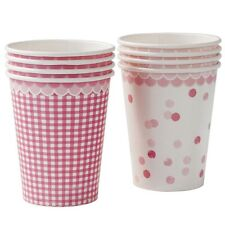8 x Pink n Mix Paper Cups Pretty pink Party tableware