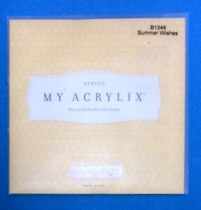 My Acrylix Spring B1349 Summer Wishes Premium Quality Decorative Stamps  NIP