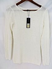 Rachel Zoe Sweater Pull Over Style Long Sleeve Rounded Neck Cream Size XS  #7083