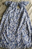 Ghanda Women's dress Off Shoulder Size Small floral print