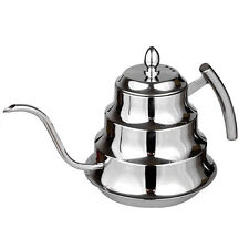 Coffee & Tea Drip Pot -Gooseneck Kettle1.2 Liter-highly polished Stainless Steel