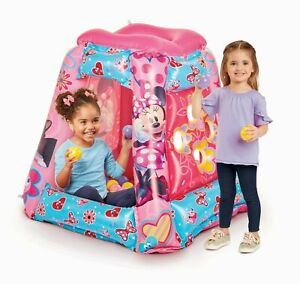 BRAND NEW DAMAGED BOX Disney Minnie Mouse Inflatable Playland Ball pit 100 BALLS