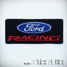 FORD RACING EMBROIDERED PATCH IRON ON Clothes Clothing Decorate Sports DIY Hobby
