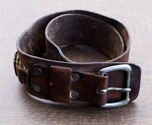 Vintage Leather Ammunition Carry Belt
