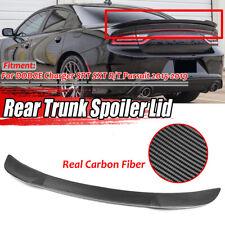 For 15-19 DODGE Charger SRT SXT R/T Pursuit Carbon Fiber Look Rear Trunk Spoiler