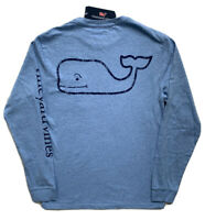 VINEYARD VINES Mens Vintage Whale Pocket Tee Long Sleeve Blue T-Shirt NWT XS