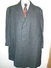 """Genuine Vintage Crombie Wool Winter Coat Mac Size 46"""" Euro 56 R - Charcoal Grey"""